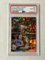 HARRISON BADER 2018 Topps Chrome SEPIA RC REFRACTOR! PSA GEM MINT 10! CARDINALS!