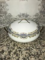Limoges Covered Dish  Pink Roses Gold Trim 9 3/4In W/lid. France CORONET  Nice