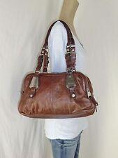 GORGEOUS B. MAKOWSKY Dark Brown Croco Leather Shopper Tote Purse Shoulder Bag