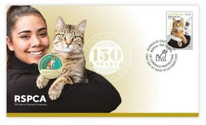 RSPCA: 150 Years Cat Postal Numismatic Cover PNC