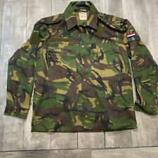 RARE Vintage Dutch Whaler 1990 Army Camo Camouflage Button Up Field Jacket