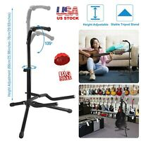 2 Tier Tripod Guitar Stand Adjustable Upright Bass Holder Folding Retract Mount