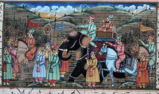 alte Mogul Malerei Kalligraphie 19.Jahrhundert Elefant, sehr dekorativ