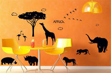 Africa XXL Baum Wandtattoo Familie Tiere Wohnzimmer Afrika Deko Tieger Löwe
