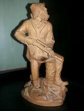 Holzfigur Holzfigur Jäger 19 cm hoch