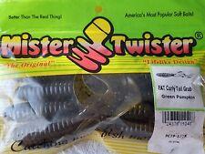 Mister Twister Fat Curly Tail Grub Green Pumpkin 9pk