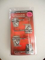 4 GROVER 142C4 Vintage style Bass Guitar Tuners 4 in line Chrome GV-142C4