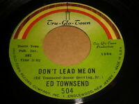 Ed Townsend: Don't Lead Me On / I Want To Be With You 45 - Soul