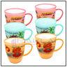 6 x KIDS CARTOON PLASTIC MUGS Reusable Drinking Cups Tea Coffee Camping Picnic