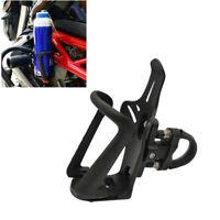 Universal Schwarz Motorrad Flaschenhalter Becherhalter Sturzbügel Halterung 1x