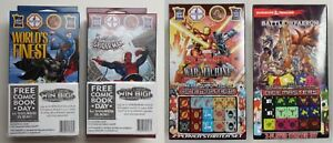WIZKIDS DICE MASTERS STARTERS/BOOSTERS - MARVEL, DC