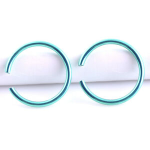 40PCS Men Women Stainless Steel Hoop Earrings Cartilage Lip Piercing Nose Ring
