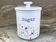 Sugar Canister By Cooksmart England. Cute Dogs And Pawprints. New.