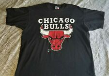 Sz XL Vintage Chicago Bulls Black T Shirt Artex Some Flaws
