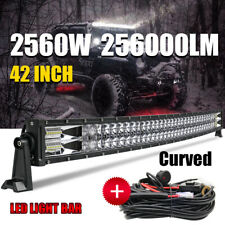 42inch Curved 2560W Led Work Light Bar Combo Beam Driving Lamp Offroad + Harness