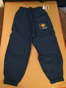 Indiana Pacers track pants DEFECT RIP deadstock nos vtg nba first pick starter