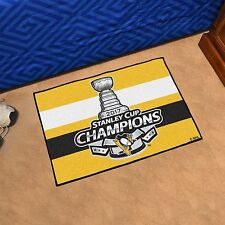 Pittsburgh Penguins 2017 Stanley Cup Champions 19 X 30 Starter Area Rug
