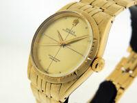 "Rolex Oyster Perpetual 6582 Fancy Bracelet 14k Gold  ""Best Example""  $Vintage"