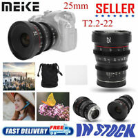 Meike 25mm T2.2-22 Large Aperture Manual Focu Prime Cinema Lens for Sony E Mount