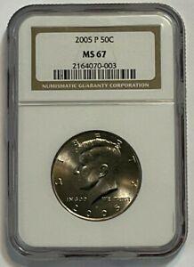 2005-P 50C Kennedy Half Dollar NGC MS 67