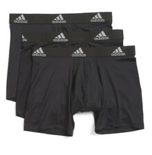 Adidas Climalite Performance 3 Pack Boxer Brief Underwear Black Athletic Fit