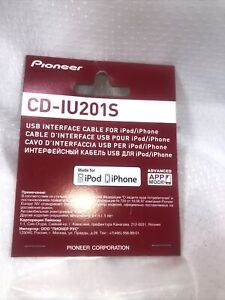 NEW Pioneer CD-IU201S USB Interface Adapter iPod iPhone 30 Pin Cable AVH OEM