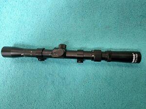 TASCO RF 3-7 X 20mm .22 Rimfire Rifle or Air Gun Black Scope with Rings    #6