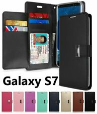 Samsung Galaxy S7 - Multi Cards Leather ID Wallet Flip Pouch Case Cover Holder