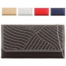 Ladies Diamante Glittery Envelope Clutch Bag Cocktail Party Handbag KTL2070