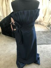 Bridesmaid /Evening / prom Dress 14 Navy Tafetta New RRP £195
