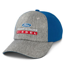64c019085f0 Ford Power Stroke Diesel Gray Cotton and Blue Polyester Mesh Hat