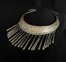 Silver Plated Necklace Of a Thai Dancer - Golden Triangle Era Ethnic Jewelry