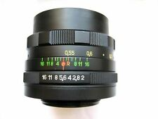 Vintage Soviet Lens Helios 44M 58mm F2 Mount M42 with adapter for Canon, Nikon