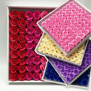 81Pcs Rose Bath Body Flower Floral Soap Scented Rose Flower Valentine's Day Gift