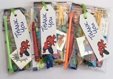 spiderman party bags, super hero, pre filled sweets toys, puzzle,boys girls