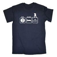 Funny Novelty T-Shirt Mens tee TShirt - Eat Sleep Ice Hockey