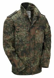 Army Shirt Genuine German Vintage Military Light Jacket Flecktarn Camo Used