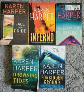 KAREN HARPER Paperback 5 Book Lot Romantic Suspense Novels Free Shipping!