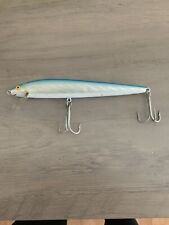Vtg Rebel Minnow Floater F4003S Blue Silver  Fishing Lure With Box F4003S