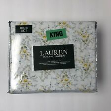 Ralph Lauren French Country Floral Sheet White Size King