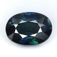 BLUE SAPPHIRE GREEN 1.66 cts. Non-heated Bangkaja, Chanthaburi, With Certificate