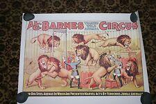 "Vintage design Circus Poster, Al. G. Barnes  18 x 24"""
