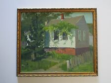 DAISY MARGUERITE HUGHES PAINTING ANTIQUE GRAPEVINE COTTAGE PROVINCETOWN MASS