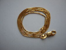 VINTAGE 14K GOLD 16.25 INCHES BOX LINK MADE IN ITALY CHAIN/NECKLACE NOT SCRAP