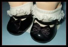 BLACK Patent Mary Jane Doll SHOES fit CABBAGE PATCH KIDS Dolls U.S.SHIPS FREE