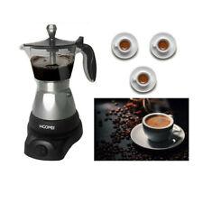 CAFFETTIERA MOKA ELETTRICA 400W PER 1 2 3 TAZZE MACCHINA PER CAFFE MACINATO