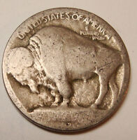 1913 D Buffalo Nickel 5c Coin Raised Mound Type 1 WOW