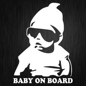 BABY ON BOARD Sticker Vinyl Car Decal Mum Life 190mm X 140mm