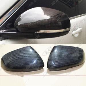 for Jaguar F-type 2013-2016 Side Rearview Mirror Cover Cap Real Carbon Fiber
