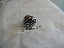 Premier Designs SAFARI rhodium enamel ring size 10 RV $45 FREE ship